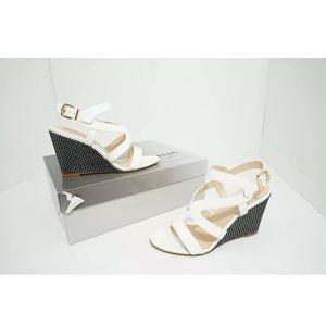 Aquatalia  Patent Leather Wedge Heels Sandals 6.5